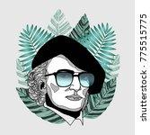 hipster portrait of composer...   Shutterstock .eps vector #775515775
