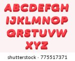 alphabets 3d effect type vector | Shutterstock .eps vector #775517371