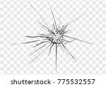 broken glass  cracks  bullet... | Shutterstock .eps vector #775532557