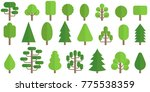 set of trees icon in flat style | Shutterstock .eps vector #775538359
