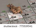 piece of copper on periodic...   Shutterstock . vector #775539541