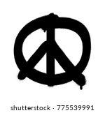 Anti War  Spray Graffiti Peace...