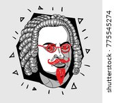 modern portrait of composer and ... | Shutterstock .eps vector #775545274