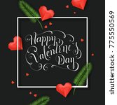 happy valentines day... | Shutterstock .eps vector #775550569