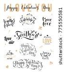 valentines day handwritten... | Shutterstock .eps vector #775550581