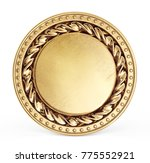gold coin sign isolated on a... | Shutterstock . vector #775552921