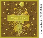 lovely vector template drawn by ... | Shutterstock .eps vector #775553149