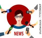 breaking news pattern... | Shutterstock . vector #775558069