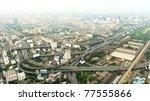 Panorama of Bangkok from Baiyoke Sky Hotel. Thailand - stock photo