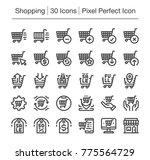 shopping and e commerce line... | Shutterstock .eps vector #775564729