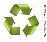 recycle symbol  isolated on... | Shutterstock . vector #77556868
