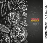 vietnamese food poster. a set... | Shutterstock .eps vector #775568737