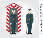 soldier and guard of honor... | Shutterstock .eps vector #775571659