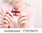 the flag of great britain ... | Shutterstock . vector #775576075
