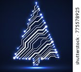 abstract technology christmas... | Shutterstock .eps vector #775578925