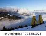 view of alps at mayrhofen ski... | Shutterstock . vector #775581025