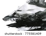 abstract ink background. marble ... | Shutterstock . vector #775581409