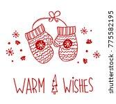 handdrawn christmas decoration  ... | Shutterstock .eps vector #775582195