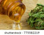 oil cannabis   medical...   Shutterstock . vector #775582219