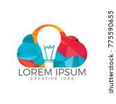 bulb cloud logo design. idea... | Shutterstock .eps vector #775590655