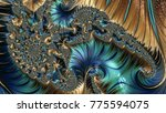 abstract computer generated... | Shutterstock . vector #775594075