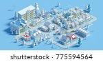 3d rendering of low poly...   Shutterstock . vector #775594564
