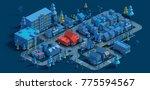 3d rendering of low poly... | Shutterstock . vector #775594567