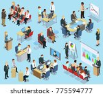 business coaching isometric... | Shutterstock . vector #775594777