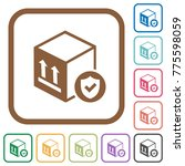 safe package delivery simple... | Shutterstock .eps vector #775598059