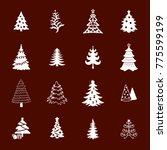christmas tree icon set | Shutterstock .eps vector #775599199