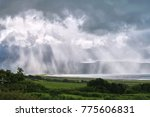 Distance View Of A Rain Storm....