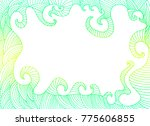 bright abstract vintage frame ... | Shutterstock .eps vector #775606855