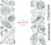 vietnamese food poster. a set... | Shutterstock .eps vector #775607449