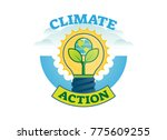 climate action  climate change... | Shutterstock .eps vector #775609255