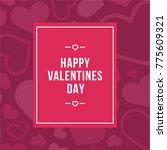 happy valentine's day postcard... | Shutterstock .eps vector #775609321