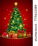 christmas festive backgroung... | Shutterstock .eps vector #775613389