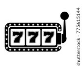 lucky seven 777 slot machine.... | Shutterstock .eps vector #775615144