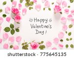 happy valentine's day message... | Shutterstock . vector #775645135