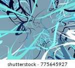 abstract art texture. colorful... | Shutterstock . vector #775645927
