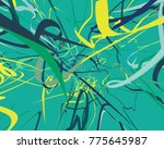abstract art texture. colorful... | Shutterstock . vector #775645987