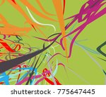 abstract art texture. colorful... | Shutterstock . vector #775647445