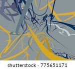 abstract art texture. colorful...   Shutterstock . vector #775651171