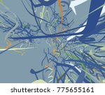 abstract art texture. colorful... | Shutterstock . vector #775655161