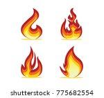 flame set design illustration | Shutterstock .eps vector #775682554