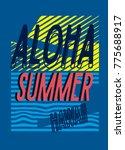 hawaii aloha summer t shirt...   Shutterstock .eps vector #775688917