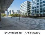 modern office buildings... | Shutterstock . vector #775690399