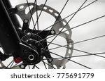 bicycle brakes front wheel hub | Shutterstock . vector #775691779