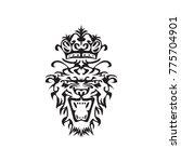 tribal tiger head vector | Shutterstock .eps vector #775704901