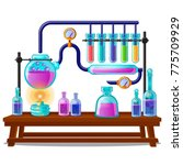 the sequence of chemical color... | Shutterstock .eps vector #775709929