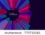 radial abstract graphic  vector ... | Shutterstock .eps vector #775710181